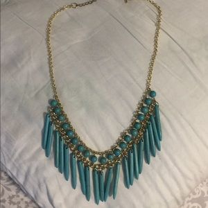 Jewelry - NEW Boutique Teal Statement Necklace